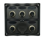 5 Switch Panel with Dual USB 4.2A Socket