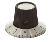 29mm Numbered Knob - Skirt with Number 0 - 9