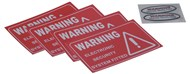 Large Alarm Sticker