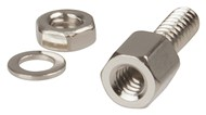 13mm Locking Nut Set for D Connectors - 2Pk
