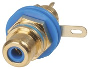 Gold RCA Socket - Blue