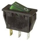 Rocker Switch Illuminated Green SPST 15A 240VAC