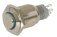 IP67 Rated Illuminated Pushbutton Switch Blue