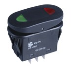 IP65 SPDT Centre Off Rocker Switch Illuminated